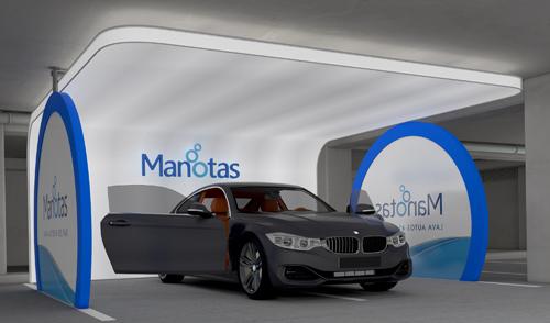 Lavação de carros com estrutura autoportante Manotas